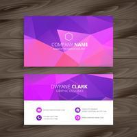 lila visitkort med abstrakt form mall vektor design