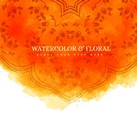 orange watercolor floral background