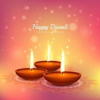 Fondo de diseño de vector de tarjeta de felicitación festival de Diwali
