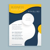 yellow cover brochure flyer design poster leaflet template for y