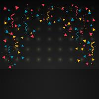 confetti in dark background