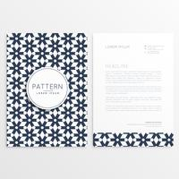 business letterhead template in abstract shape