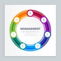 modèle d'étapes d'infographie couleur