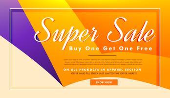 super verkoop banner poster sjabloon met aanbiedingen en kortingen