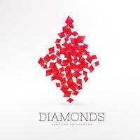 Fondo de elemento de naipes de forma de diamantes