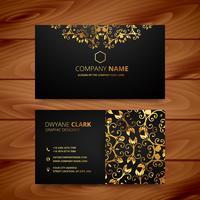 stylish golden premium luxury business card template design