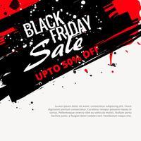 abstract grunge black friday sale design