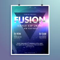 stylish modern music flyer design template