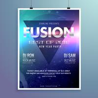 stylish modern music flyer design template