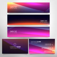 colorful business card and header collection