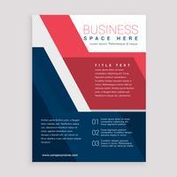 brochure géométrique rouge et bleu design template cover cover ann
