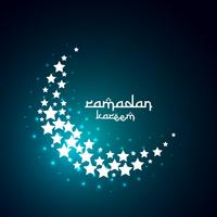 conception créative de lune créer avec des étoiles