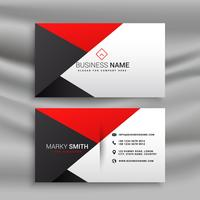 elegant red and black business card in creative style