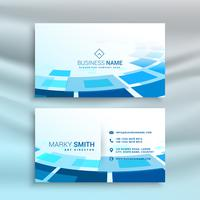 abstract blue business card design in creative style