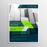 design de modelo de folheto de empresa moderna