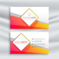 orange and white business card design