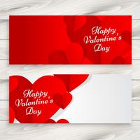 happy valentines day love banners vector design illustration