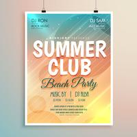 summer beach party banner flyer template design