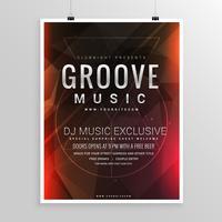 modelo de evento de cartaz de festa de música