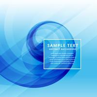 beautiful clean minimal blue business wave design