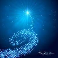 kreativt glödande julgran