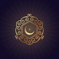 golden floral style ramadan festival symbol