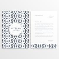 letterhead template with abstract flower pattern