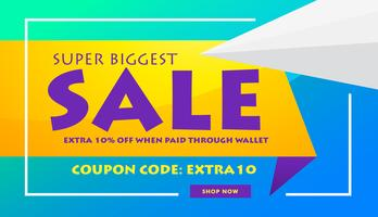 creative sale discount banner poster design template for adverti