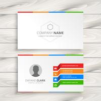 white business card  template vector design illustration