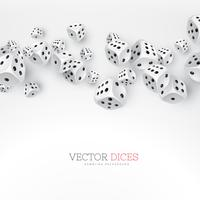 dice floating on white background