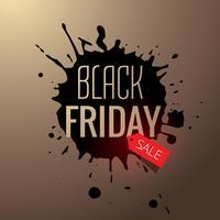 Ilustración de diseño de splash de venta de viernes negro
