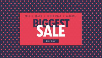 biggest sale voucher design with red dots