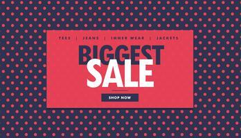 grootste verkoopbonontwerp met rode stippen