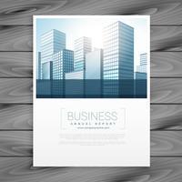 modelo de capa de panfleto de brochura de negócios limpo