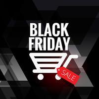 conception de vente vendredi noir avec icône panier