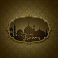 islamic ramadan festival greeting design