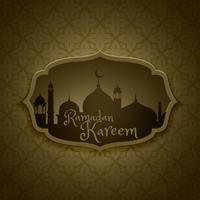 islamisk ramadan festival hälsning design