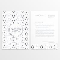 Diseño de folleto de empresa con decoración patrón.