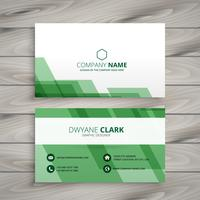 abstract green business card template vector design illustration