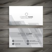 gray white business card template vector design illustration