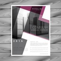 geometrische Broschüre Flyer Designvorlage