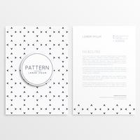 design di carta intestata con pattern minimale