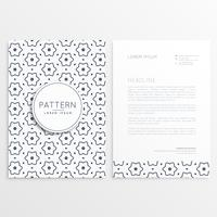elegant simple letterhead design with abstract pattern