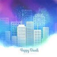 fond de vecteur coloré de feux d'artifice de saison diwali