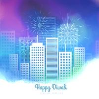 diwali season fireworks colorful vector background