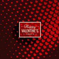 valentijnskaartachtergrond met illustratie van het harten de vectorontwerp