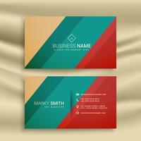 Diseño creativo de tarjetas de visita con colores retro.