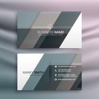 Plantilla de tarjeta de visita moderna con formas abstractas