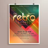 Retro Musik Party Event Flyer Einladungsvorlage