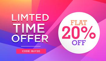 colorful limited time sale offer discount deal banner